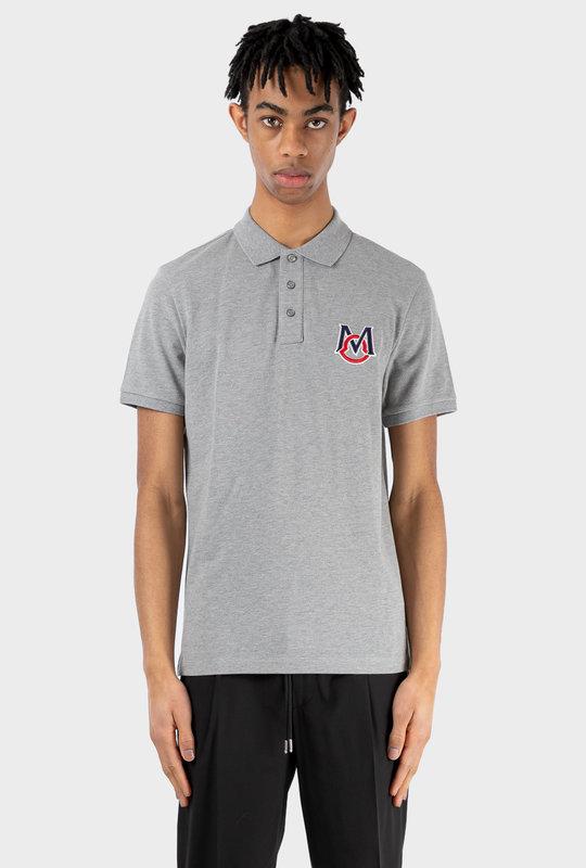 Oversized M Logo Polo Grey