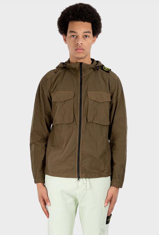 11602 Naslan Light Shirt Olive Green Jacket