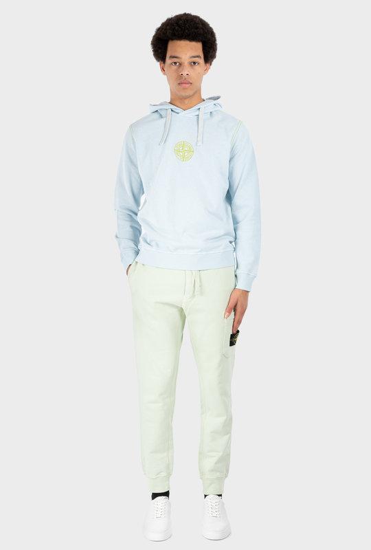 Plain Hooded Fleece Sweatshirt Blue