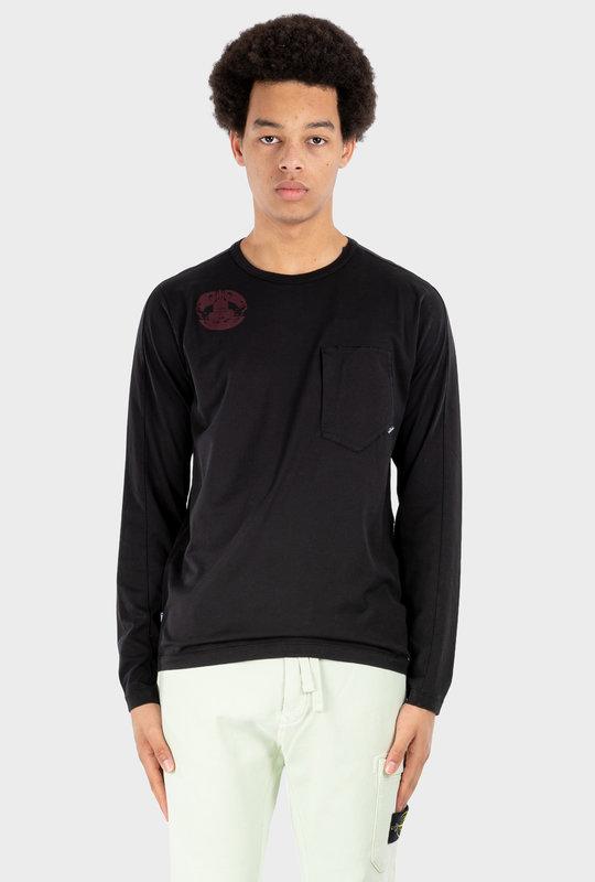 Long Sleeve Shirt Logo Print Black