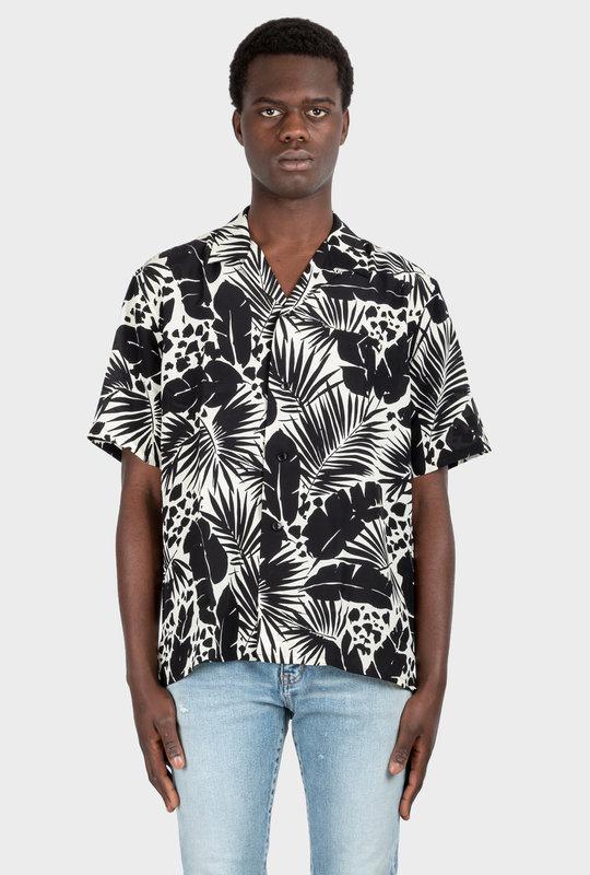 Shark-Collar Shirt Tropical Chalk
