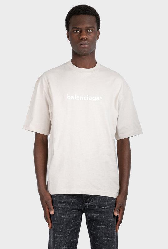 New Copyright Medium Fit T-Shirt Cement Grey / White