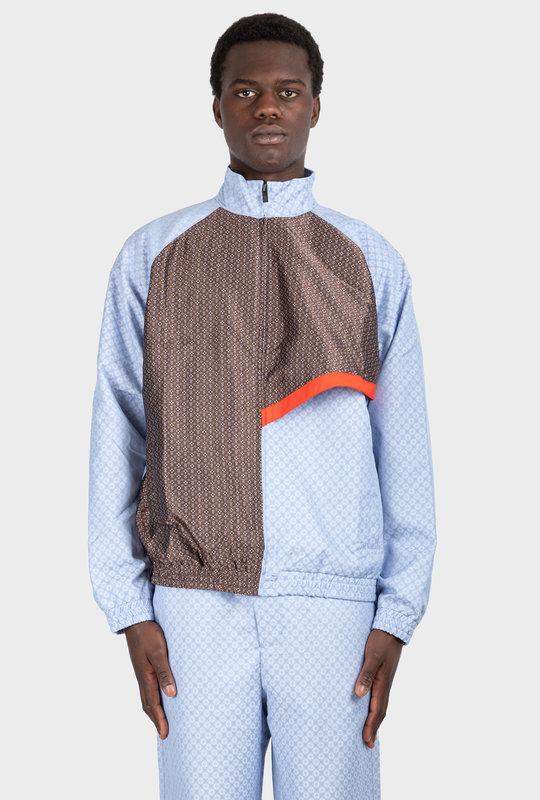 Light Kasah Scarf Vest Blue / Brown