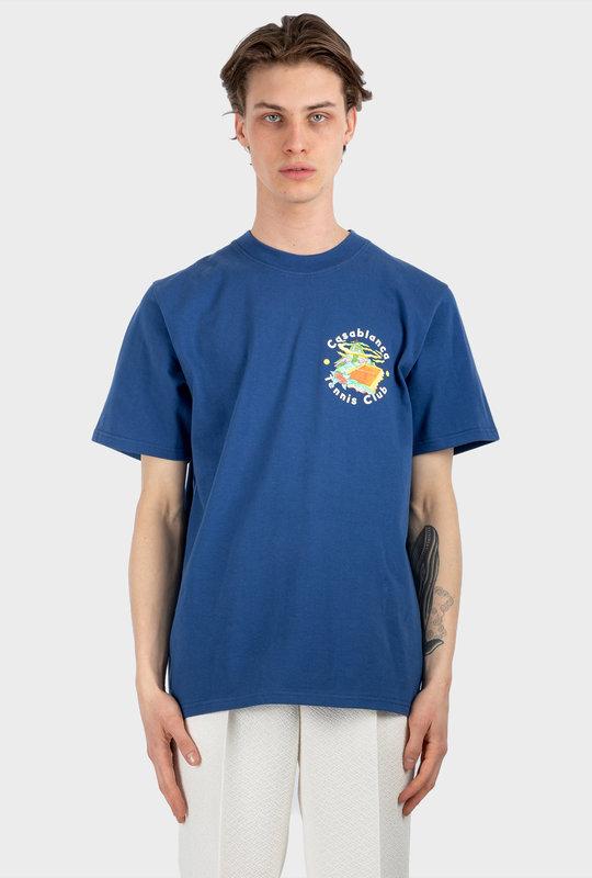 Tennis Club Island Double Print T-Shirt Navy