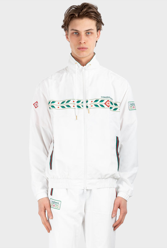 Chest Logo Jacket White