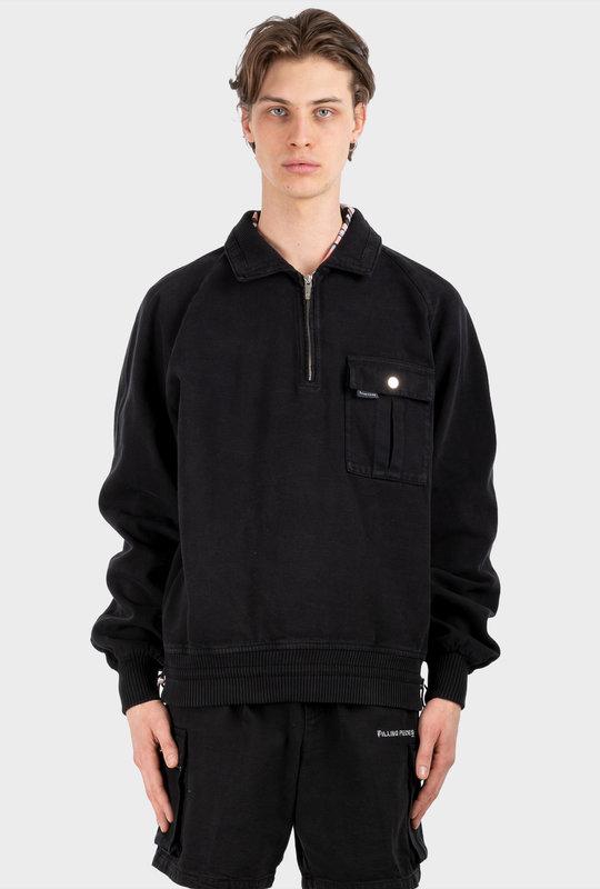 Half Zipper Jacket Black