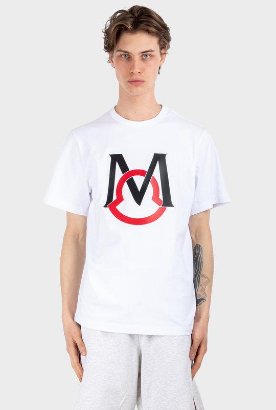 Maglia Interlocking Logo Tee White