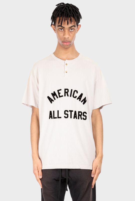All Star Henley Tee Vintage White
