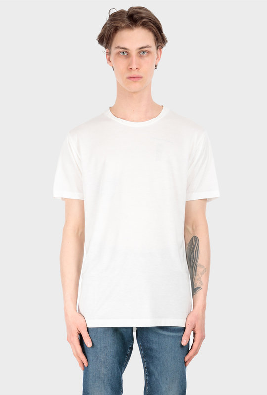 Viscose Blend Jersey Crewneck T-Shirt White