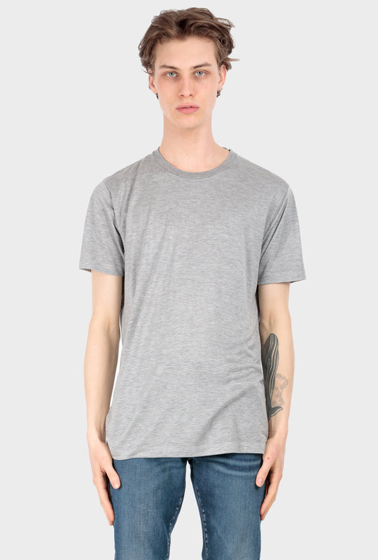Viscose Blend Jersey Crewneck T-Shirt Grey