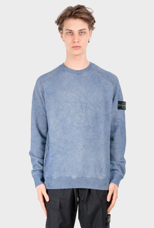 62290 Dust Colour Treatment Crewneck Turquoise Melange