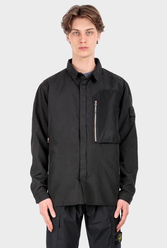 10102 Vented Overshirt Black