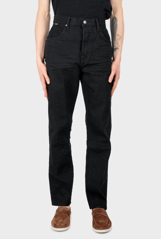 Straight-Leg Jeans Denim Black