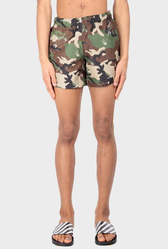 All-Over Logo-Print Swim Shorts Green