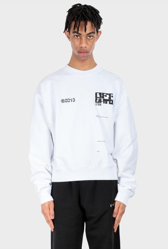 Tech Marker Sweatshirt White