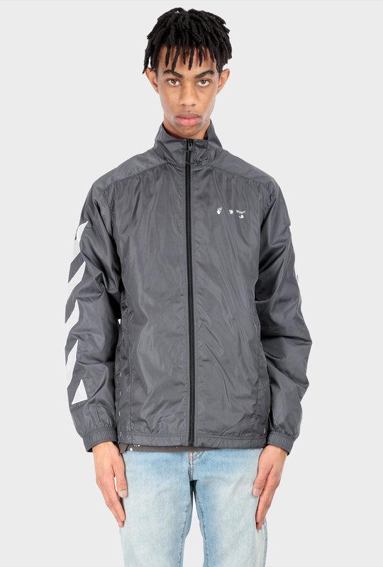 Diagonals Nylons Jacket Grey