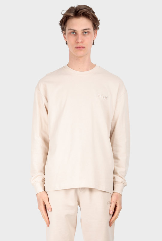 Collection 1 Long Sleeve T-Shirt Beige Stone