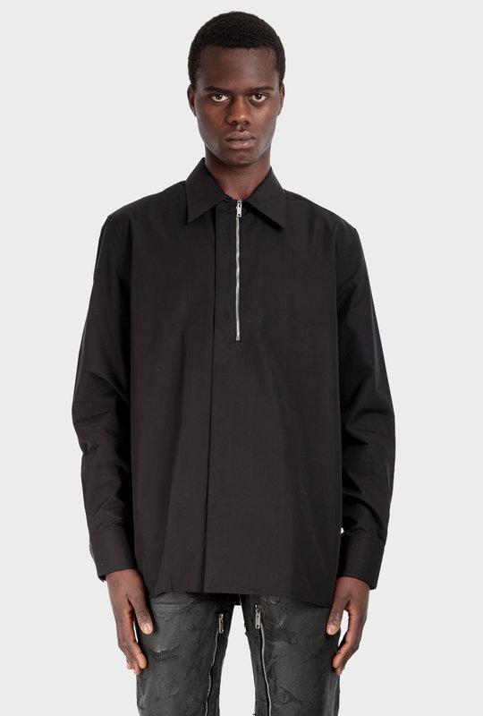 Poplin Shirt Zips Black