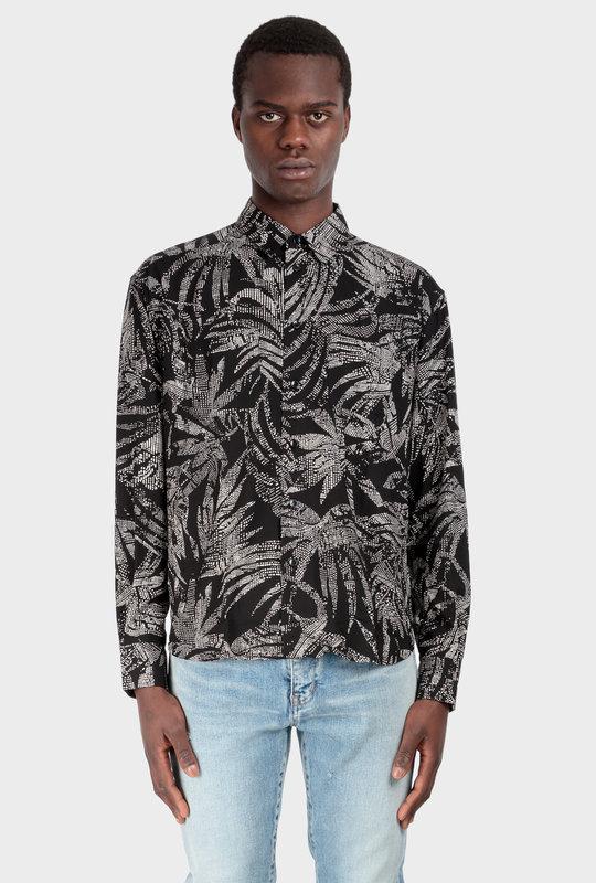 Tropical Print Shirt Black