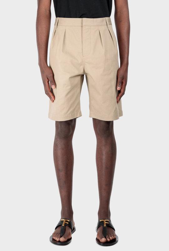 Pleated Chino Bermuda Short Mastic