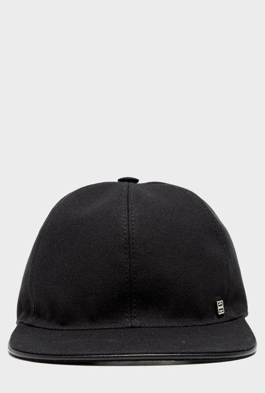 Logo-Embroidered Cotton-Canvas Baseball Cap Black