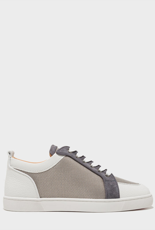 Louis Junior Orlato  Leather-Trim Mesh White Grey