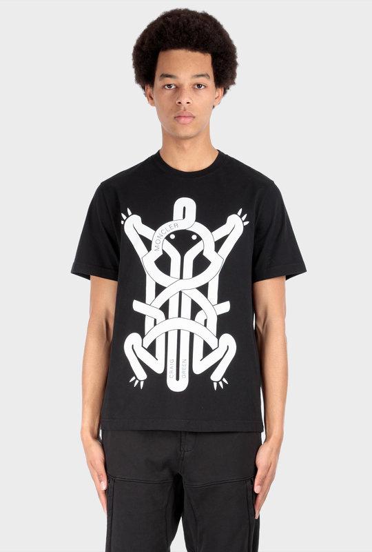 MONCLER X CG Printed T-Shirt Black