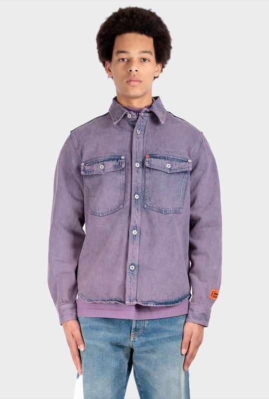 Faded Denim Shirt Purple