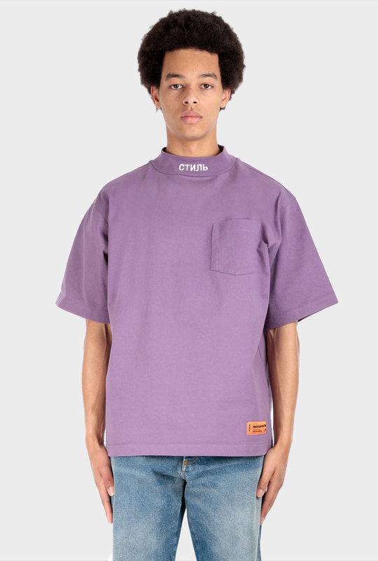 Pocket Turtleneck T-Shirt Purple