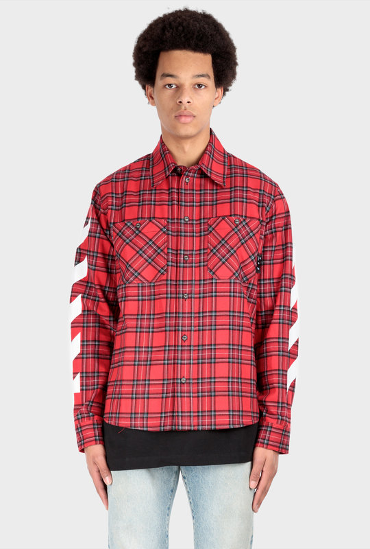 Check Flannel Shirt Red
