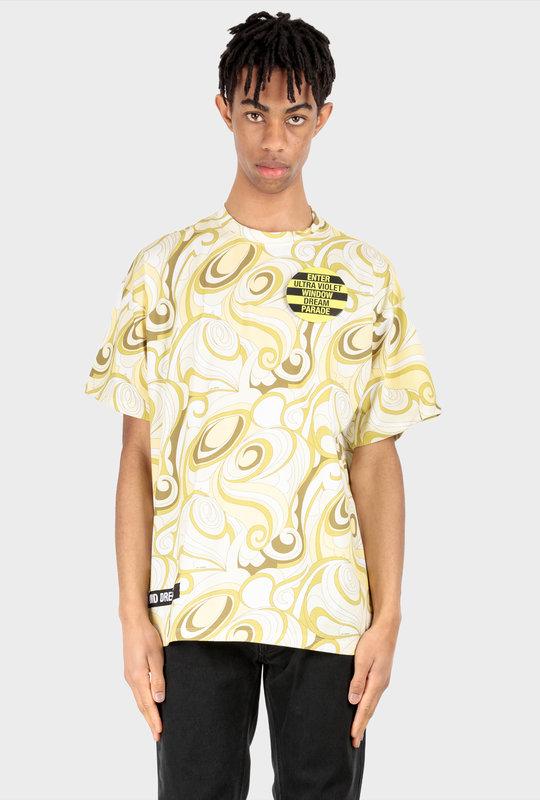 Graphic Print T-Shirt Hippie Yellow
