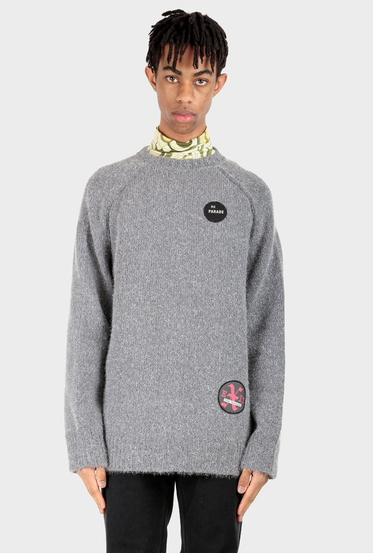Patched Knitwear Grey