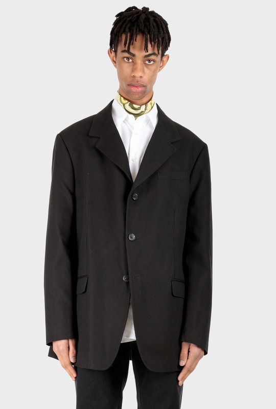 Single-Breasted Jacket Black