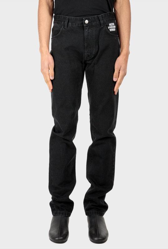 Slim-Fit Denim Jeans Black