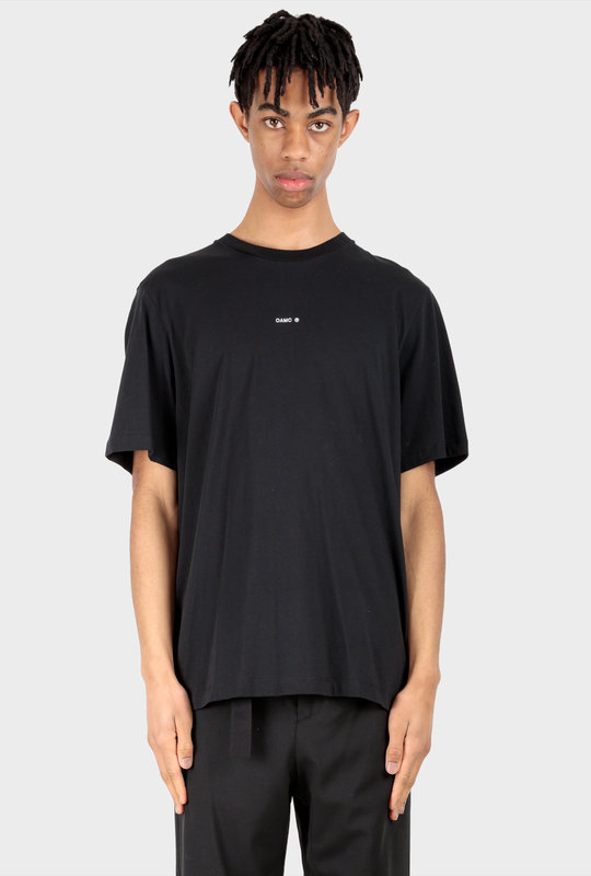 Logo-Patch Cotton T-Shirt Black