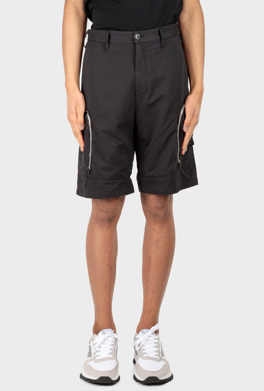 Zip-Embellished Bermuda Shorts Black