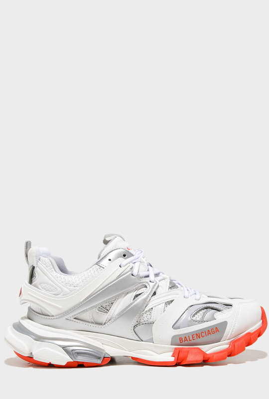 Track Sneakers White Fluo Pink