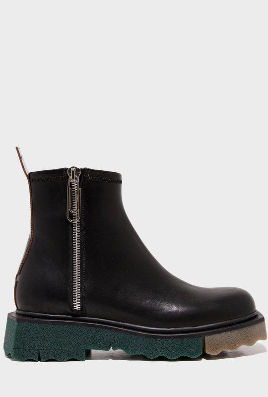 Sponge Zip Boots Black