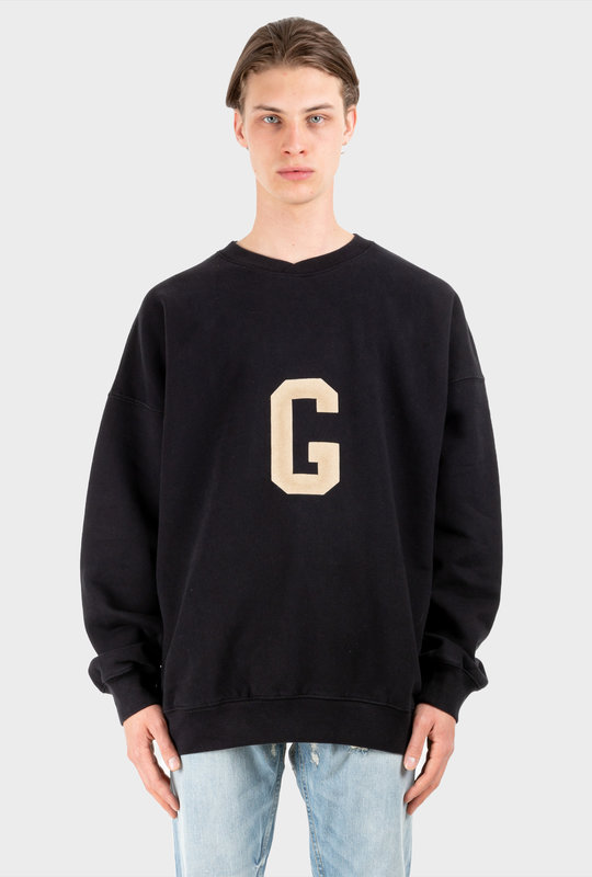 'G' Crewneck Black