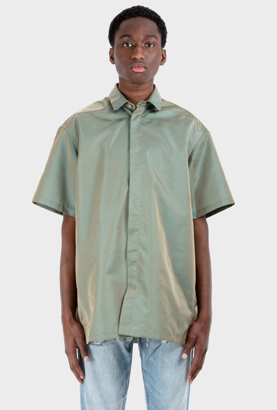 Short Sleeve Nylon Shirt Green