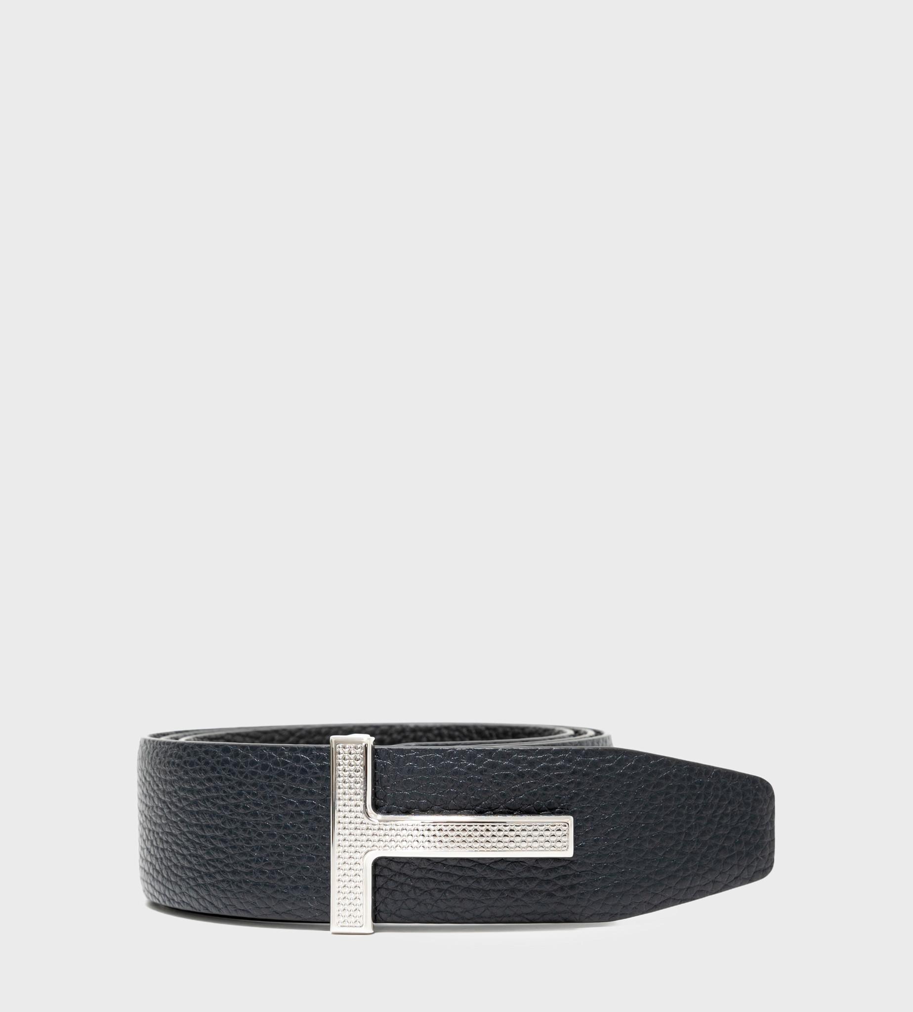TOM FORD Reversible Full-Grain Leather Belt Navy Black
