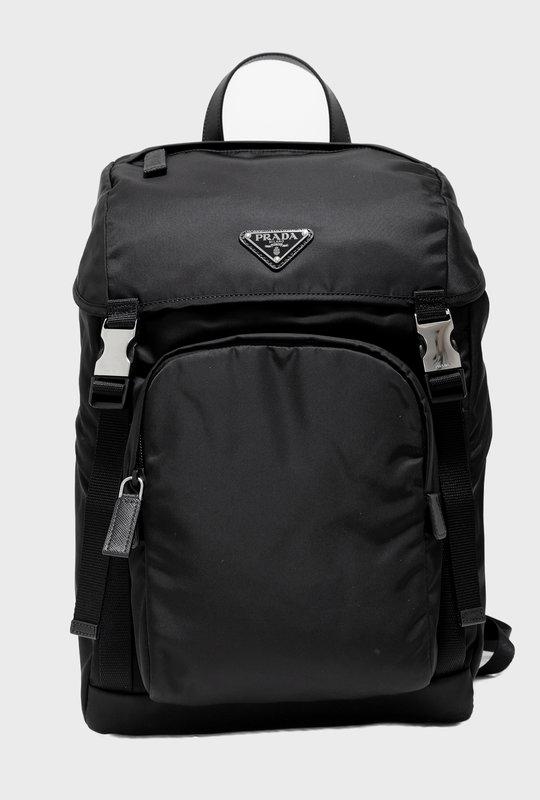 Nylon Saffiano Backpack Black