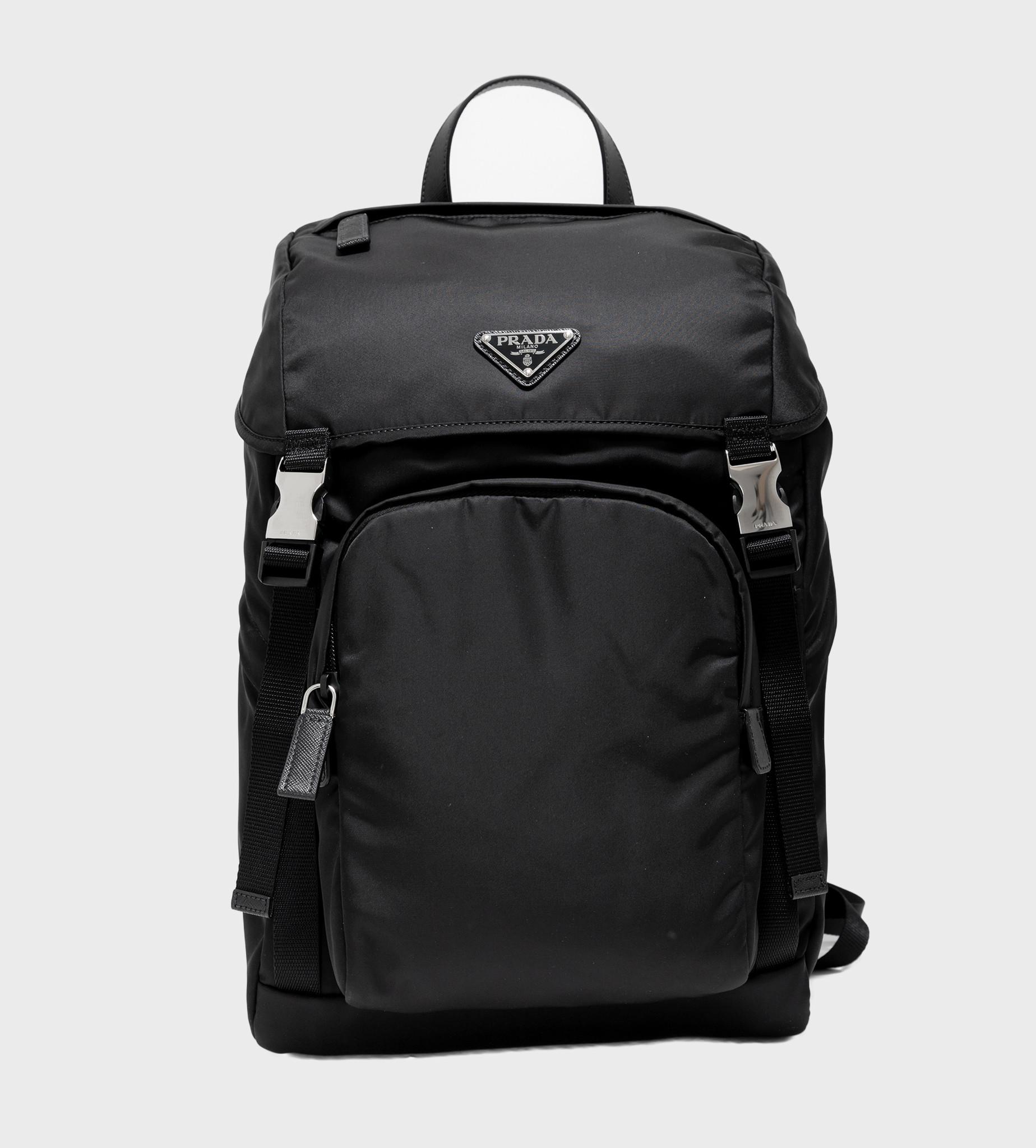 PRADA Nylon Saffiano Backpack Black