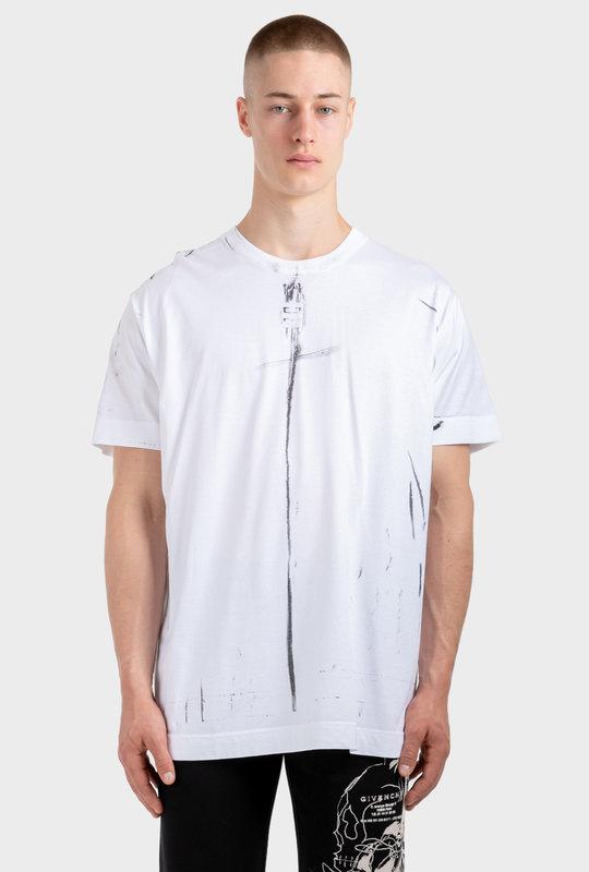 Trompe-L'ŒIL Effect Oversized T-Shirt White