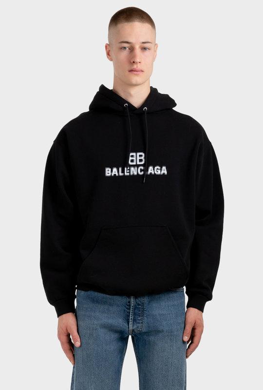 BB Pixel Medium Fit Hoodie Black