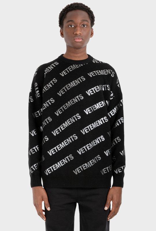All-Over Logo Knitwear Black