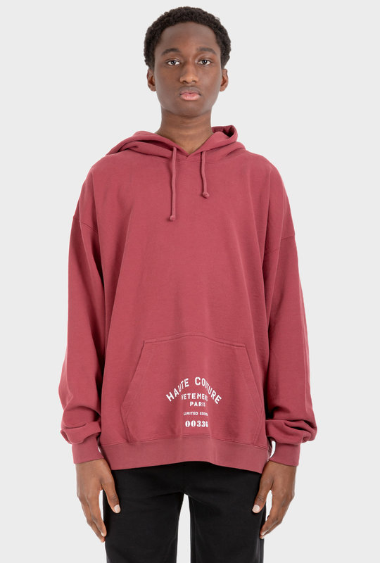 Limited Edition Print Hoodie Red