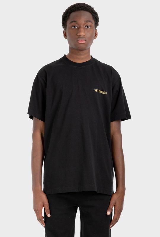 T-Shirt With Logo Black