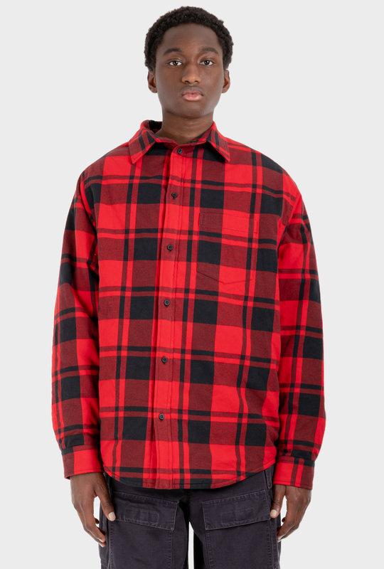 Off Shoulder Shirt Red