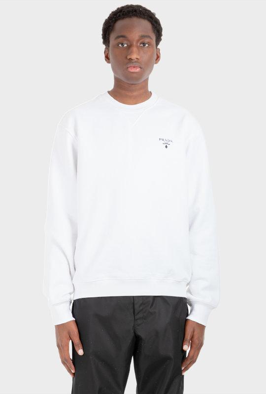 Logo  Print Sweatshirt White
